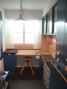 "Recreation of Schütte-Lihotsky's ""Frankfürter Kitchen"", MAK Center, Vienna"