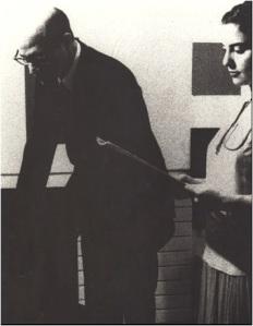 PA-Molnár at the office of Professor Jaromir Krejcar, Prague, 1938
