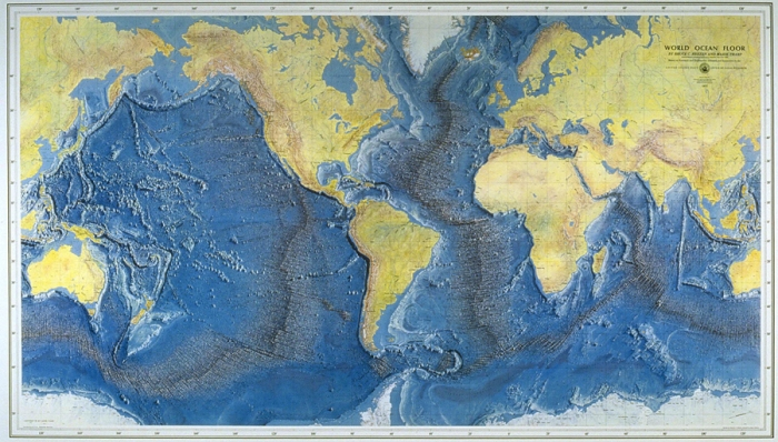 World Ocean Floor Map (1959) – Marie Tharp and Bruce Heezen