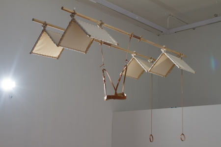 Tania Candiani, Machine for Flying Besnier 1673, 2015. Installation view. Photo Rodrigo Hernández.